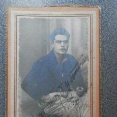 Fotografía antigua: TARRAGONA MILITAR FOTOGRAFÍA TAMAÑO TARJETA VISITA AÑO 1939. Lote 244611730
