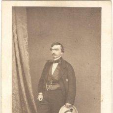 Fotografía antigua: FOTOGRAFÍA - CARTE DE VISITE - INFANTE DON SEBASTIÁN GABRIEL DE BORBÓN Y BRAGANZA - JEAN LAURENT. Lote 244620150
