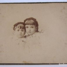 Fotografía antigua: FOTOGRAFIA INFANTIL. ANTONIO Y EMILIO F. DIT NAPOLEON. 16 X 10,5 CM. Lote 244712985