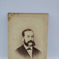 Fotografía antigua: ANTIGUA FOTO DE CABALLERO A IDENTIFICAR,MOLINE Y ALBAREDA . 10,5 X 6 CM. Lote 247706675