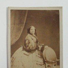 Fotografía antigua: LA REINA ISABEL II DE ESPAÑA.. Lote 248431455