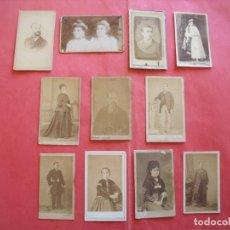 Fotografía antigua: CARTES DE VISITE.-BARCELONA.-MATARO.-VILANOVA Y GELTRU.-GERONA.-MADRID.-ZARAGOZA.-PARIS.-LOTE DE 11. Lote 248545670