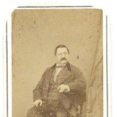 Fotografía antigua: RETRATO DE UN HOMBRE - FOTÓGRAFÍA FRANCO-HISPONO-AMERICANO - BARCELONA. Lote 251409525