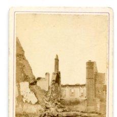 Fotografía antigua: RUINES DE CHATEAUDUN 18 OCTOBRE 1870, FORMATO TARJETA DE VISITA, CDV ALBÚMINA GUERRA FRANCO PRUSIANA. Lote 253877235