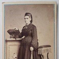 Photographie ancienne: RETRATO DE MUJER. J. CLEMENT, SAN SEBASTIÁN. Lote 254134105