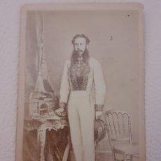 Fotografía antigua: FOTOGRAFIA ALBÚMINA CDV MILITAR ALBERTO HENSCHEL PERNAMBUCO. S. XIX. Lote 254976280