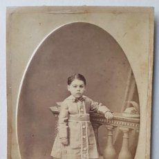 Photographie ancienne: RETRATO DE NIÑA. P. VALERO, CARTAGENA, MURCIA. Lote 257950175