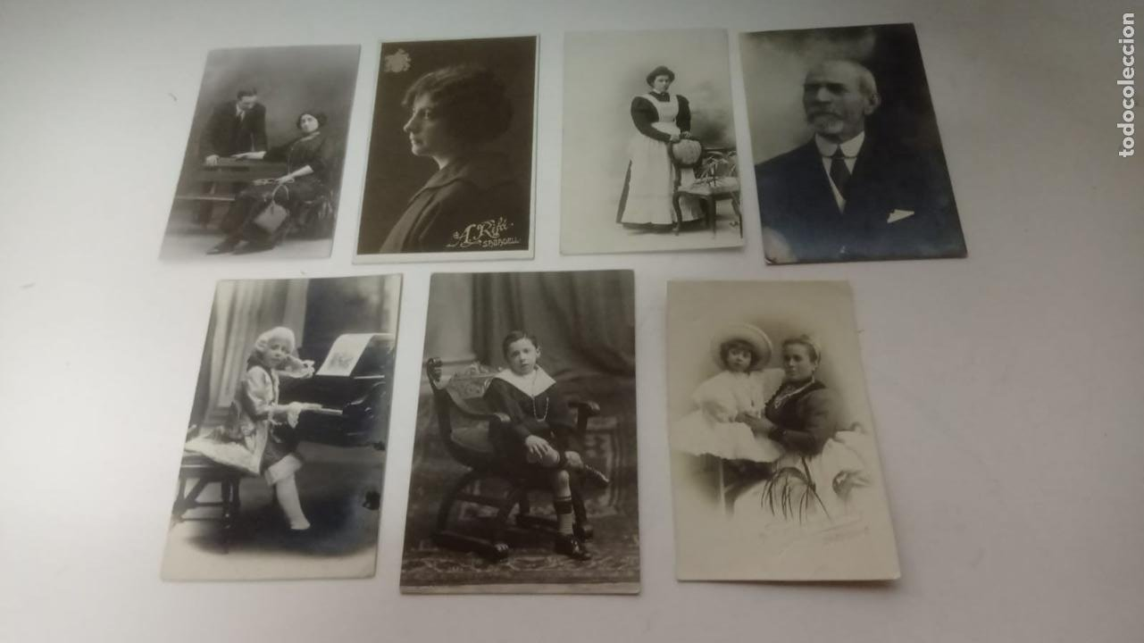 LOTE DE 7 FOTOGRAFÍAS ANTIGUAS TARJETA POSTAL (Fotografía Antigua - Cartes de Visite)
