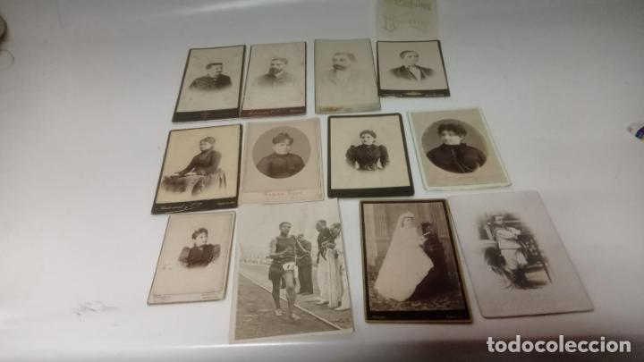LOTE DE 12 FOTOGRAFÍAS ANTIGUAS ALBUMINA (Fotografía Antigua - Cartes de Visite)