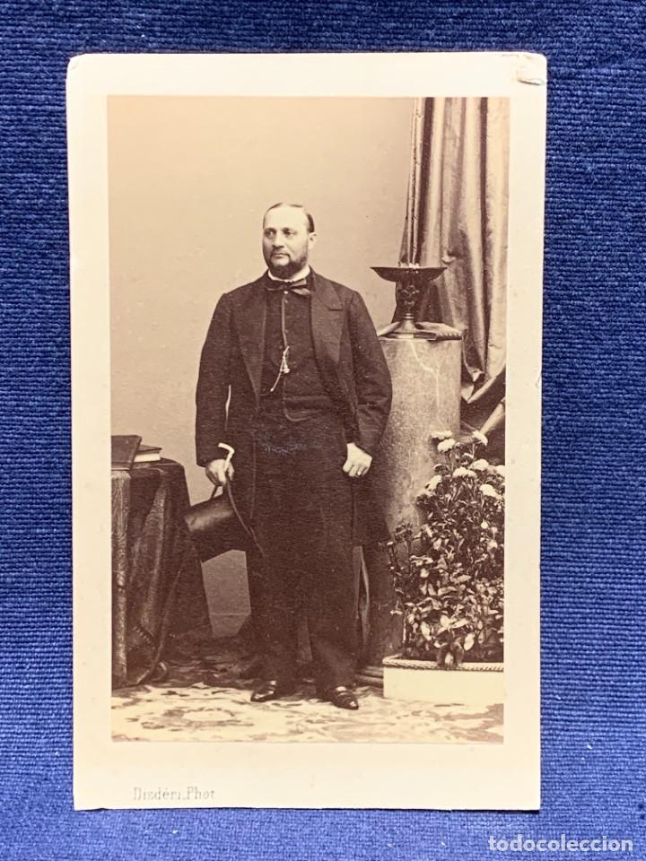 CDV ARTISTA MUSICA TENOR ENRICO TAMBERLICK DISDERI MAISON GIROUX PARIS S XIX (Fotografía Antigua - Cartes de Visite)