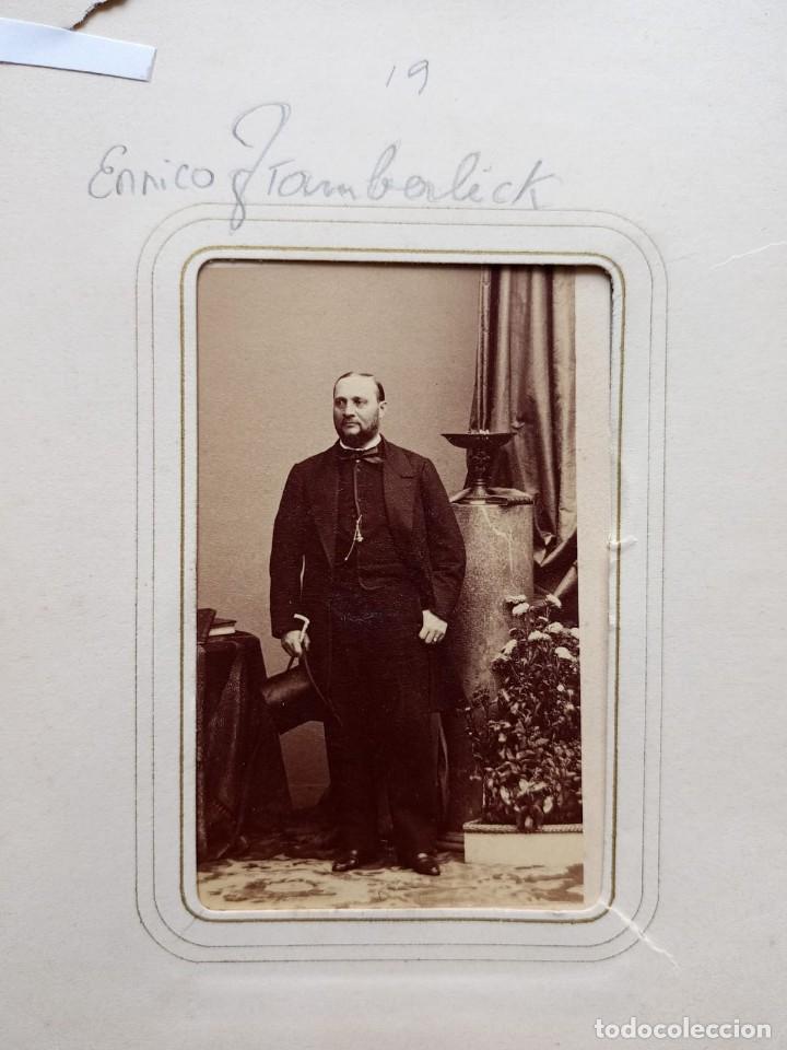 Fotografía antigua: CDV ARTISTA MUSICA TENOR ENRICO TAMBERLICK DISDERI MAISON GIROUX PARIS S XIX - Foto 2 - 260514925