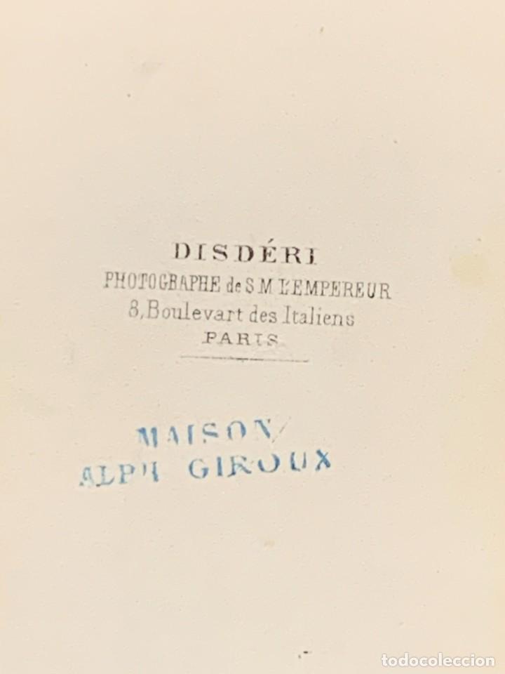 Fotografía antigua: CDV ARTISTA MUSICA TENOR ENRICO TAMBERLICK DISDERI MAISON GIROUX PARIS S XIX - Foto 3 - 260514925