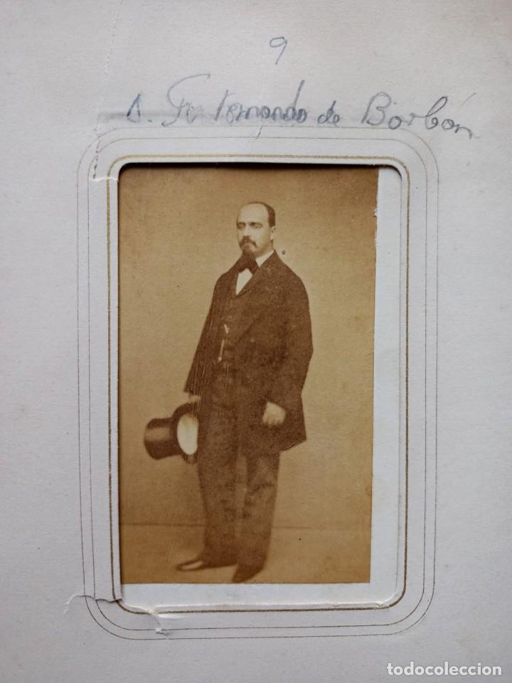 Fotografía antigua: CDV RETRATO ARISTOCRACIA ESPAÑA FERNANDO DE BORBON NO FOTOGRAFO - Foto 2 - 260525920