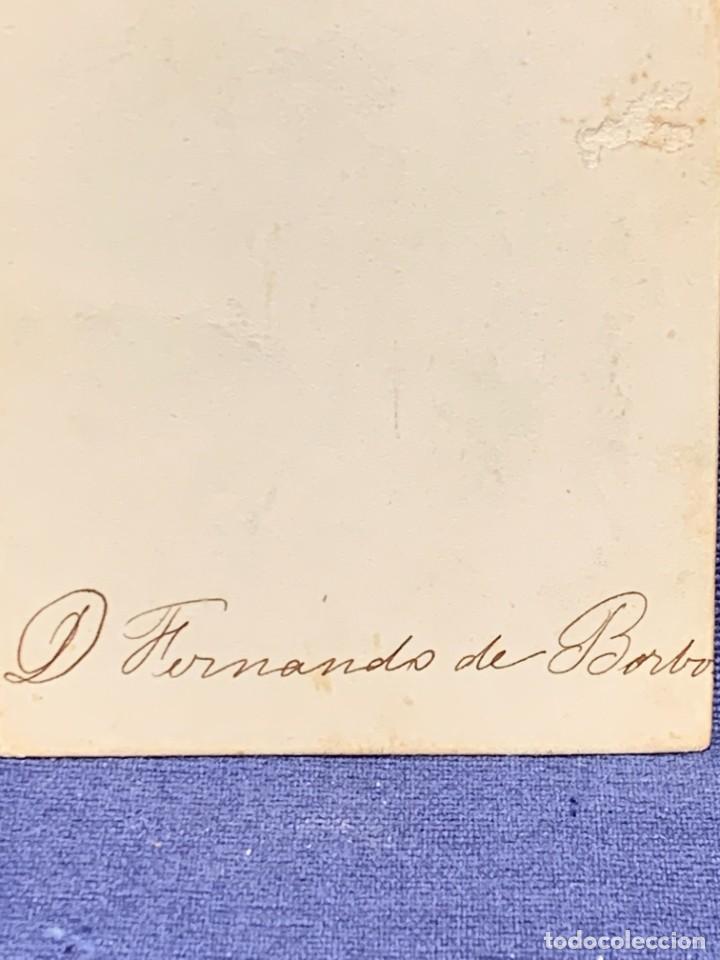 Fotografía antigua: CDV RETRATO ARISTOCRACIA ESPAÑA FERNANDO DE BORBON NO FOTOGRAFO - Foto 13 - 260525920
