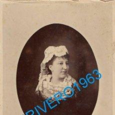 Fotografía antigua: CDV,A.E.DIT NAPOLEON E HIJOS FOTOGRAFOS DE SS MM ISABEL II,ALFONSO XII,REYES DE PORTUGAL. Lote 261345805