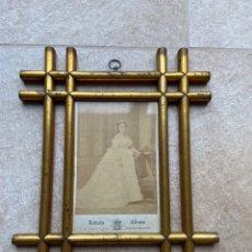 Fotografía antigua: RETRATO DE DAMA ENMARCADO. FOTO HEBERT, MADRID. Lote 262001180