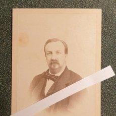 Fotografía antigua: ANTONIO DE ORLEANS, DUQUE MONTPENSIER, ESPOSO M.ª LUISA BORBON, RARA CDV. Lote 262477515