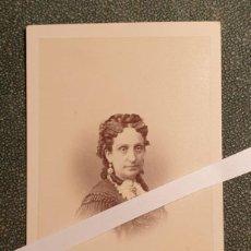 Fotografía antigua: MARÍA LUISA FERNANDA DE BORBÓN, HIJA REY FERNANDO VII, RARA CDV. Lote 262478180
