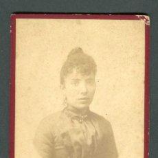 Fotografía antigua: RETRATO DE JOVEN SANT FELIU DE GUIXOLS. F: J. BERTRAN. C.1890. Lote 263176450