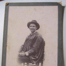 Fotografía antigua: FOTOGRAFIA. GERMAN COLON. CASTELLÓN. TARJETA DE GABINETE. 17 X 11 CM. Lote 264788634