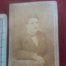 Fotografía antigua: CARTE DE VISITE, CHILE. DEDICADA AL DORSO 1878. Lote 269159098