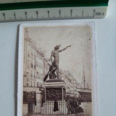 Fotografía antigua: ANTIGUA FOTOGRAFÍA TAMAÑO CARTE DE VISITE CDV TOULON LE GENIE DE LA NAVEGATION SIGLO XIX. Lote 269343813
