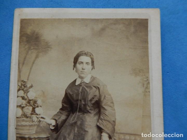 Fotografía antigua: Fotografía. Dama. Fotógrafo C. Quintana. Santander. Último tercio siglo XIX. - Foto 2 - 271987403