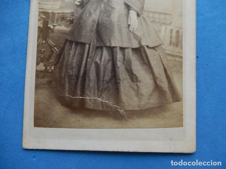 Fotografía antigua: Fotografía. Dama. Fotógrafo C. Quintana. Santander. Último tercio siglo XIX. - Foto 3 - 271987403