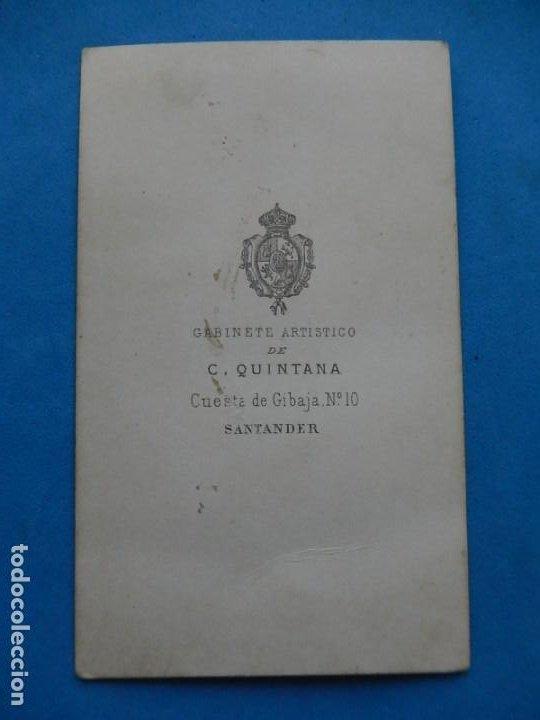 Fotografía antigua: Fotografía. Dama. Fotógrafo C. Quintana. Santander. Último tercio siglo XIX. - Foto 4 - 271987403