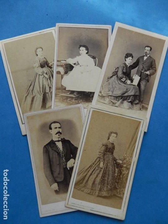 FOTOGRAFÍAS. DAMAS Y CABALLEROS. VARIOS FOTÓGRAFOS. BARCELONA. ÚLTIMO TERCIO SIGLO XIX. (Fotografía Antigua - Cartes de Visite)