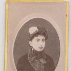 Fotografia antica: FOTOGRAFÍA. ELISA VILLOCH DE LA CONCHA. 1884. RAMÓN VERGUA, FOTÓGRAFO. CORUÑA. CUDILLERO. Lote 275789043