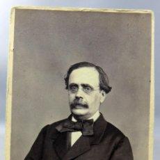 Fotografia antica: CARTE VISITE FOTOGRAFÍA CABALLERO GAFAS BIGOTE MUÑOZ Y GOUTELLE MONTERA MADRID HACIA 1870 S XIX. Lote 276497488