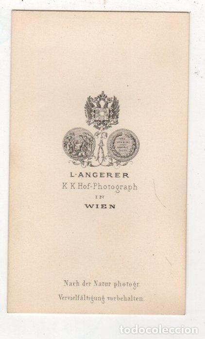 Fotografía antigua: FOTOGRAFIA CARTE DE VISITE. L. ANGERER. WIEN. VIENA, AUSTRIA - Foto 2 - 276796448