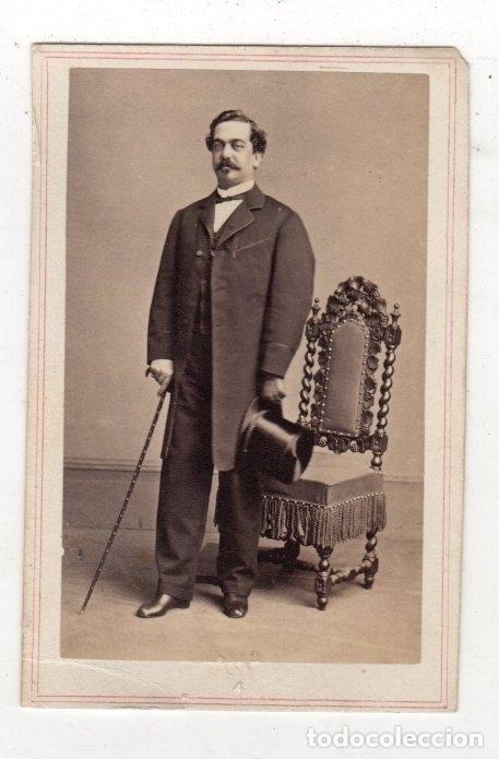 FOTOGRAFIA CARTE DE VISITE. CHARLES D. FREDRICKS. NEW YORK. 1862 (Fotografía Antigua - Cartes de Visite)