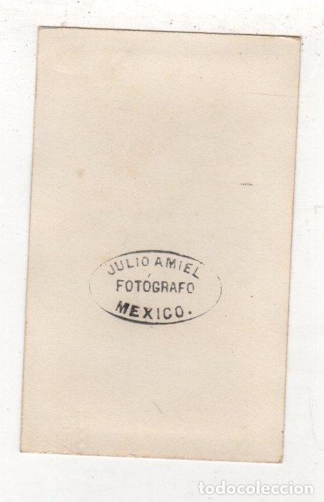 Fotografía antigua: FOTOGRAFIA CARTE DE VISITE. JULIO AMIEL FOTOGRAFO, MEXICO - Foto 2 - 276799098