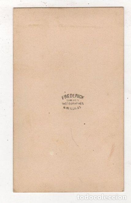 Fotografía antigua: FOTOGRAFIA CARTE DE VISITE FREDERICK. NEW YORK - Foto 2 - 276800213