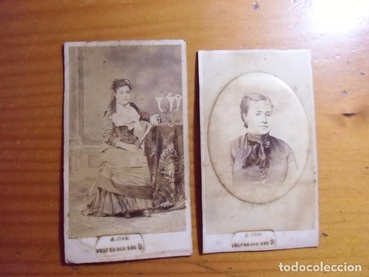 MADRID.FOTOGRAFO J.MON.CARTES DE VISITA .HACIA 1880. (Fotografía Antigua - Cartes de Visite)
