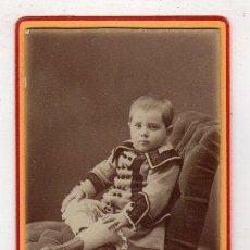 Fotografía antigua: FOTOGRAFIA CARTE DE VISITE INFANTIL. L. REGIL, BILBAO. Lote 277692358