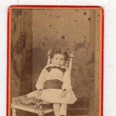 Fotografía antigua: FOTOGRAFIA CARTE DE VISITE. FERDINAND BERILLON. BAYONNE. Lote 277694913