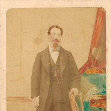 Fotografía antigua: 1864CA FOTOGRAFÍA CARTE DE VISITE, CDV RETRATO IIMINADO FOTÓGRAFO DISDÉRI. PARÍS, FRANCIA. Lote 278805403