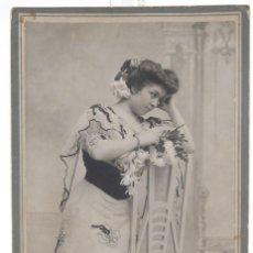 Fotografía antigua: FOTOGRAFÍA ANTIGUA HARO HERMANOS- CARTE DE VISITE - JOVEN - F.S.XIX - 13,5 CM X 9,5 CM.. Lote 278972463