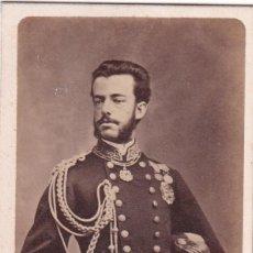 Fotografía antigua: ALBÚMINA AMADEO DE SABOYA CON UNIFORME MILITAR, FOTÓGRAFO J. LAURENT. MADRID.. Lote 280844423