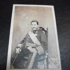 Fotografia antiga: EL INFANTE FRANCISCO DE PAULA BORBON - FOTOGRAFÍA FOTO A. ALONSO MARTINEZ CARTE DE VISITE CDV. Lote 286868538