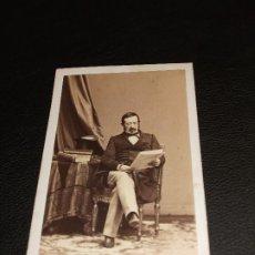 Fotografia antiga: EL GENERAL RAMON MARIA NARVAEZ MILITAR LOJA GRANADA FOTOGRAFIA FOTO DE MALAGA CARTE DE VISITE CDV. Lote 286876823