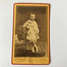 Fotografia antiga: ANTIGUA FOTOGRAFIA ALBUMINA, TARJETA VISITA DE FINALES DEL XIX, FOT. DE J. OSES, CÓRDOBA. Lote 287143488