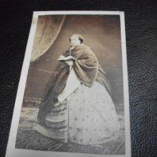 Fotografia antiga: LA REINA ISABEL II MONARQUIA FOTOGRAFÍA FOTO LIBRERIA MOYA CARTE DE VISITE CDV. Lote 287349918