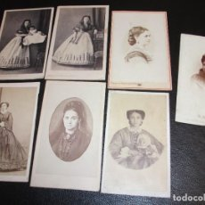 Fotografia antiga: 23 FOTOGRAFÍA FOTO CARTE DE VISITE CDV - FAMILIA DE MALAGA VIZCONDES - POST MORTEM. Lote 287702738