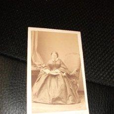 Fotografia antiga: CONDESA MONTEMOLIN MARIA CAROLINA DE BORBON DOS SICILIAS FOTOGRAFÍA FOTO DISDERI CARTE DE VISITE CDV. Lote 286935498