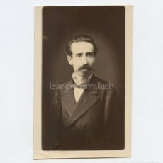 Fotografía antigua: LEANDRE SERRALLACH I MAS (1837-1890) ARQUITECTO - FOTO: NAPOLEÓN, BARCELONA.. Lote 288693838