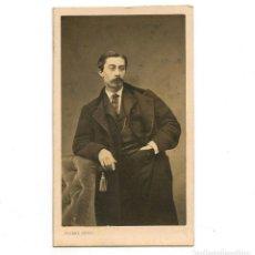 Fotografía antigua: PERSONAJE CÉLEBRE POR IDENTIFICAR, FOTO PIERRE PETIT, PARIS. CDV. Lote 288694743